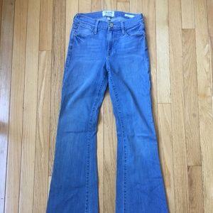 Frame Le High Flare Light Wash Blue Jeans Size 25